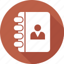 address book, business, contacts, directory icon