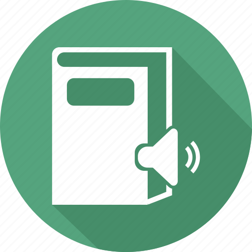 book, books, directory, library, speaker icon