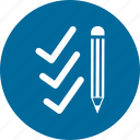 check, draw, pencil, pencils icon