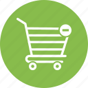 buy, cart, minus, sell, shopping, shopping cart icon