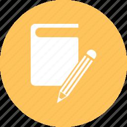 book, education, pencil icon