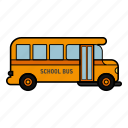 bus school, school, service, students icon