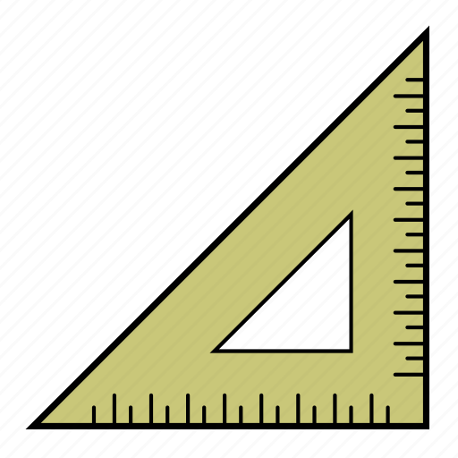 line, measure, ruler, tool icon