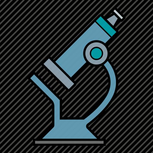 laboratory, micro, microscope, scientist icon