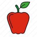 apple, fruit, red apple, school icon