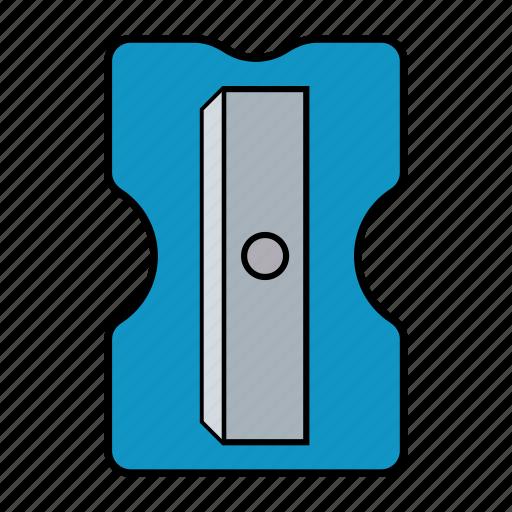 blue, education, pencil, pencil sharpener icon
