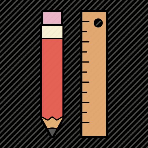 education, pen, pen and measure, ruler icon