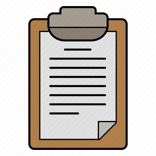 check line, list, paper, schedule icon
