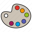 colors, draw, paint, pallete icon