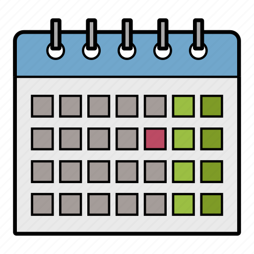 calendar, day month year, planning, timetable icon