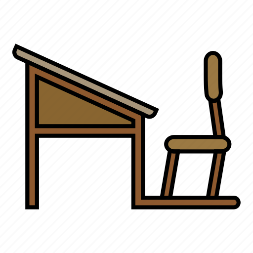 chair, school, study, table icon