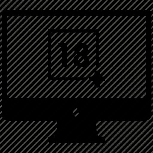 destop, movie, multimedia, play, plus icon