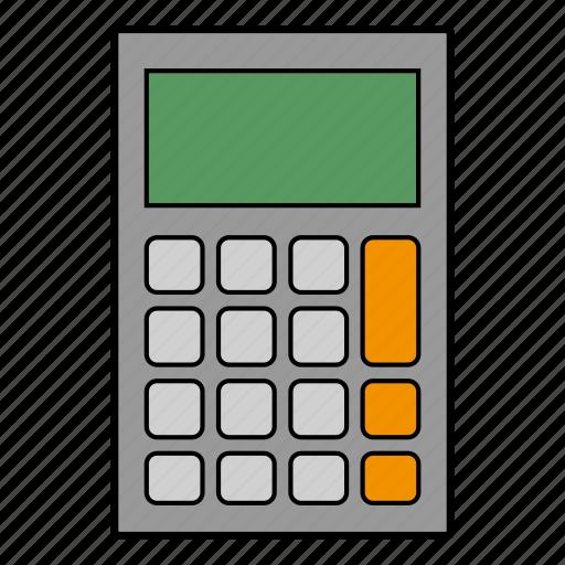 calculate, calculator, education, math icon