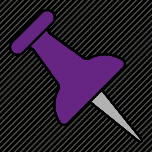 board, pin, purple, tool icon