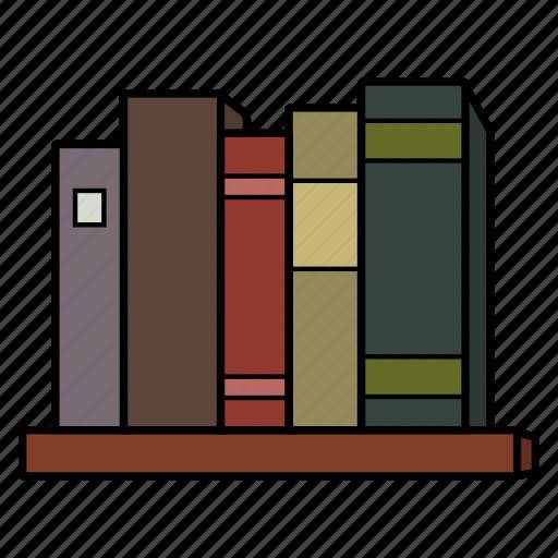 book shelf, books, read, study icon