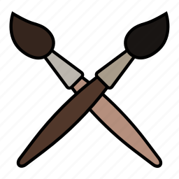 brush, paint, stick, tool icon
