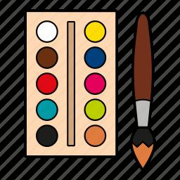 brush, colors, paint, watercolor icon