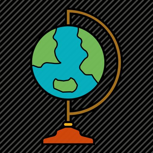 asia, countries, europe, globe icon