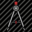 circle, metal, paper, tool icon