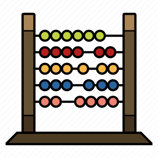 abacus, count, math, tool icon