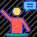 chat, comment, message, talk