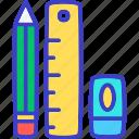 pencil, drafting, draw, ruler