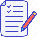 contract, paper, document, file, page