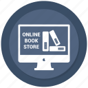 file, file book, monitor, online, online book store, website icon