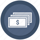business, dollar, money, paper dollar icon