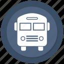 bus, school bus, transport icon