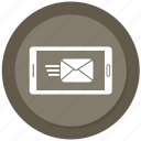 app, letter, mail, mobile, phone, send, sending icon