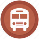 school bus, transportation, travel icon
