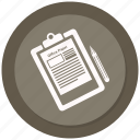 checklist, list, notepad, paper, pencil icon