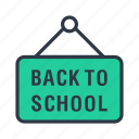 back to school, classroom, education, school, whiteboard icon icon