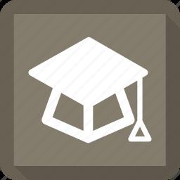 education, graduation, graduation hat, hat icon