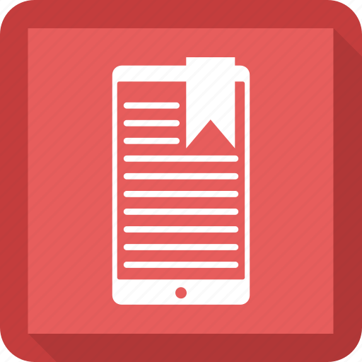 mobile, phone, ribbon, round icon