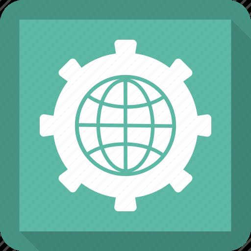 business, earth, global, global mechanism icon