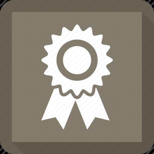 award, badge, ribbon, win icon