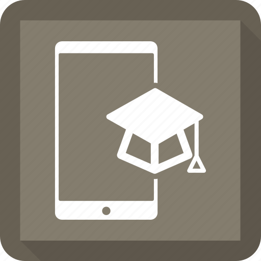 cell phone, education, mobile, phone icon