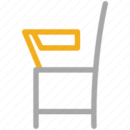 chair, furniture, school, student chair icon