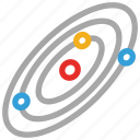 planets, space, spaceship, technology icon
