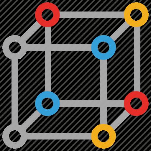 cube molecule, molecule, molecule shape, science icon