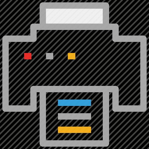 fax, fax machine, print, printer icon