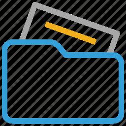 document, file folder, files, folder icon