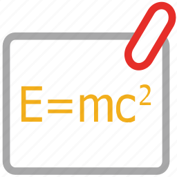 formula, formula of relativity, math, physics icon