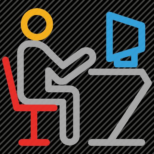 computer, computing, internet surfing, user icon