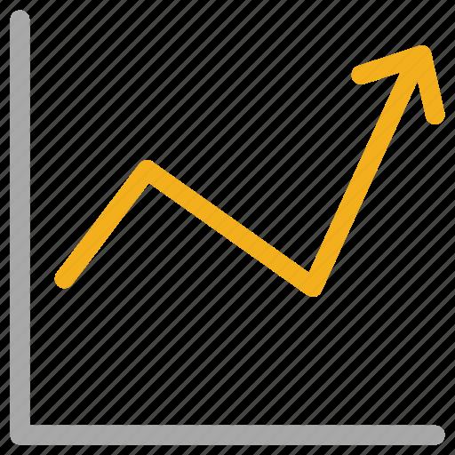 analytics, ascending line, graph, statistics icon
