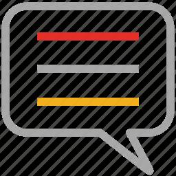 comments, message, speech bubble, talk icon