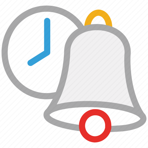 bell, clock, school bell, time schedule icon