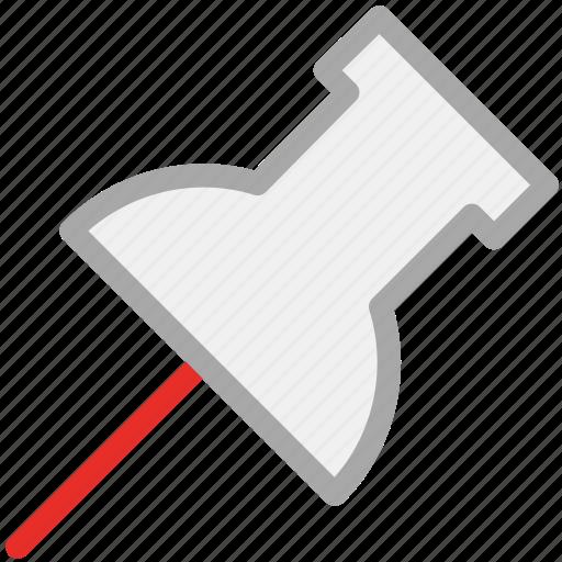 map pin, pin, pointer, push pin icon